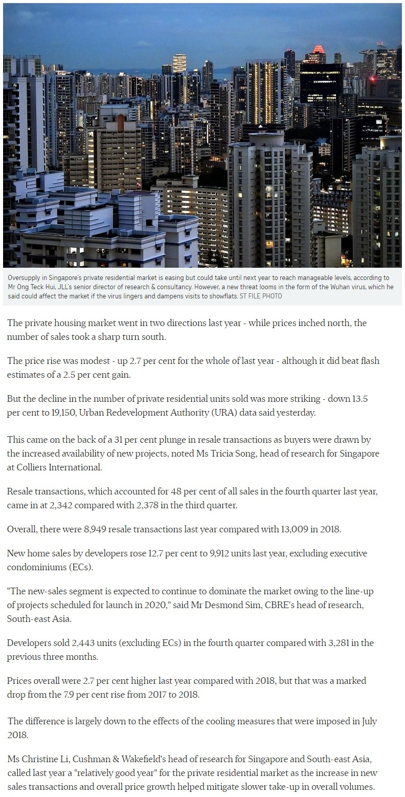Parc Greenwich - Singapore private home prices inch up 2.7 for 2019 1